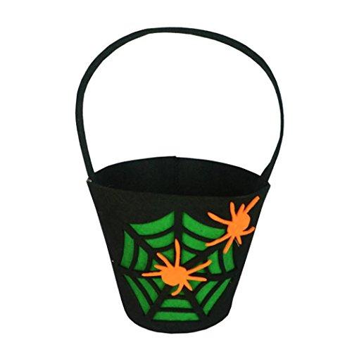 Chartsea Halloween Pumpkin Bag Kids Candy Bag for Halloween Party Costumes (G)