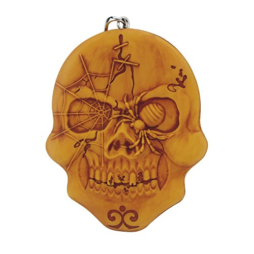 Skull Silicone Key Coin Purse Silicone Wallet Silicone Pouch (Antiqued Gold/Yellow) ()