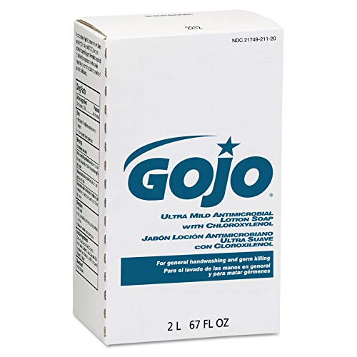 GOJO NXT Ultra Mild Antimicrobial Lotion Soap with Chloroxylenol, Citrus Fragrance, 2000 mL Lotion Soap Refill for GOJO NXT Dispenser (Case of 4) - -