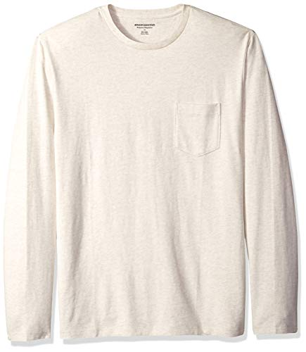 Amazon Essentials Men's Regular-Fit Long-Sleeve Pocket T-Shi
