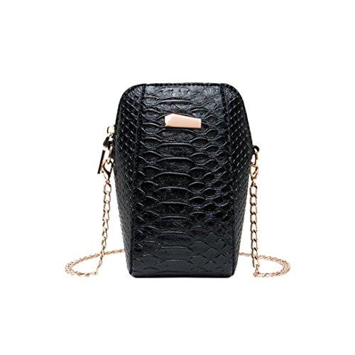 n Crossbody Bag Shoulder Bag Messenger Bag Phone Bag Coin Bag(Black) ()