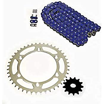 520-110L Blue O Ring Chain /& Sprocket Silver 14//47 Suzuki DR350 1990-1993DR 350