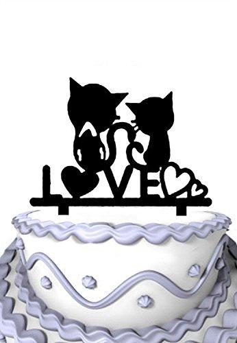 Meijiafei-Script-Love-Heart-with-2-Cut-Cats-Silhouette-Wedding-Cake-Topper-Gift