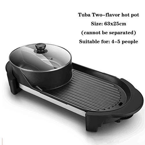 Electric Teppanyaki Table Top Barbecue Nonstick Grill Griddle BBQ Extra Large Griddle Electric for Camping Indoor Outdoor (Size : E)