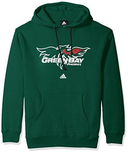 adidas NCAA Wisconsin Green Bay Phoenix Adult men School Logo Fleece Hood,Medium,Green