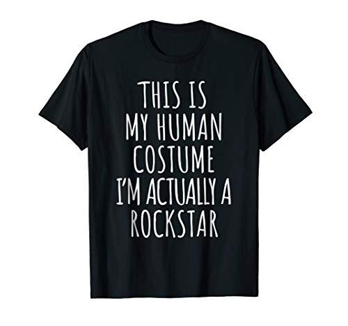 Rockstar Costume Shirt Funny Halloween -