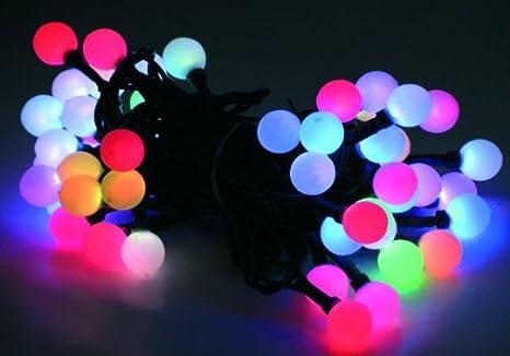 Lichterkette 10 20 30 Kugeln LED Farbwechsel Batteriebetrieb Farbwechselkette