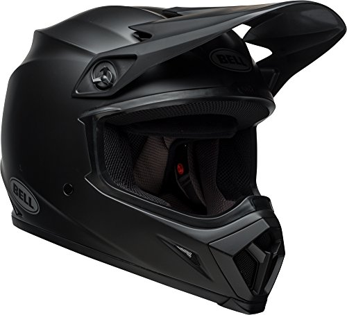 Bell MX-9 MIPS Equipped Motorcycle Helmet (Solid Matte Black, X-Large) ()