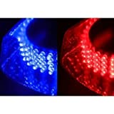 Jackey Awesome 240-LED Snow Plow Safety Strobe Light Warning Emergency 7-Patterns Car Truck Construction Car Vehicle Safety W/ Magnetic Base (Red & Blue)