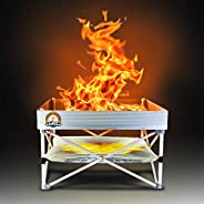 Pop-Up Fire Pit   Portable and Lightweight   Fullsize 24 Inch   Weight 8 lbs.   Never Rust Fire Pit   Included