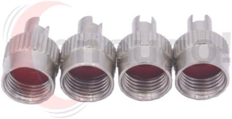 4/pneugo /® Bouchons de Valve avec valve Glace atzschrauber VG8/M/étal avec joint d/étanch/éit/é