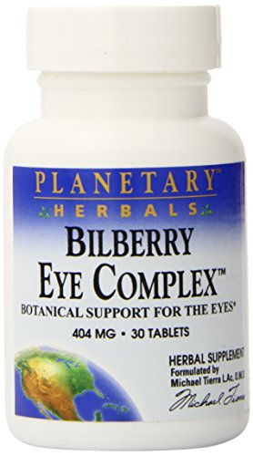 Planetary Herbals Bilberry Eye Complex Tablets, 30 Count (Planetary Bilberry Eye Herbals)