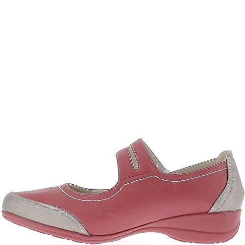 Confort rojo zapatos bi colores a 3, tacón de 5cm