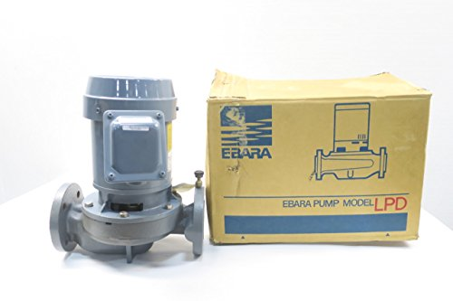 EBARA 32LPD VERTICAL INLINE IRON CENTRIFUGAL PUMP 3/4KW 220V-AC 32MM D596870 - Vertical In Line Centrifugal Pump