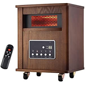 1500W Infrared Zone Space Electric Portable Fire Heater Remote Control Fireplace