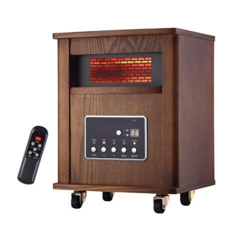 1500W Infrared Zone Space Electric Portable Fire Heater Remote Control Fireplace Infrared Heaters