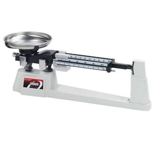 Ohaus 710-00 Triple-Beam Balance with Deep Stainless Steel Pan, 610g x 0.1g Ohaus Corporation