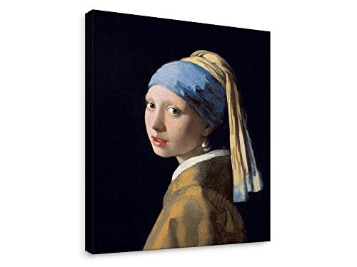 Niwo ART (TM) - Girl with a Pearl Earring,by Johannes Vermeer - Oil Painting Reproduction - Giclee Wall Art for Home Decor,Office, Gallery Wrapped, Stretched, Framed Ready to Hang (20