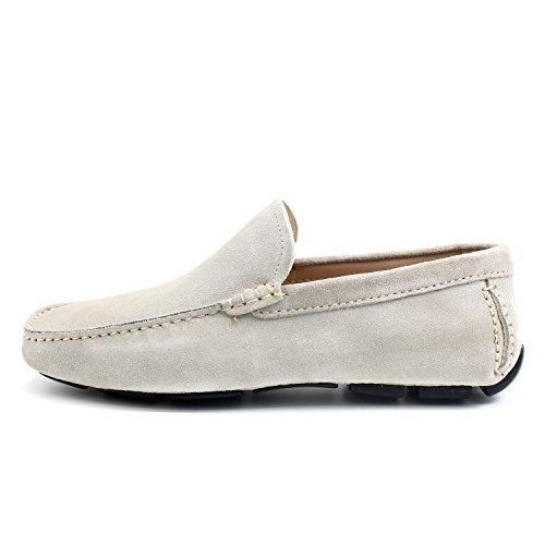 Giorgio Rea Zapatos Para Hombre Car Shoes Crema Elegante Hombre Zapatos Hecho A Mano EN Italia Cuero Real Brogue Oxfords Richelieu Mocasines Crema