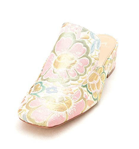 Sandals Marc Slide Casual Pink Fisher Multi Square Womens Fabric Toe lailey Fabric g87gqwr