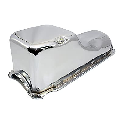 Assault Racing Products A9294 Big Block Chevy Chrome Stock Style 4qt Oil Pan BBC 396 402 427 454: Automotive