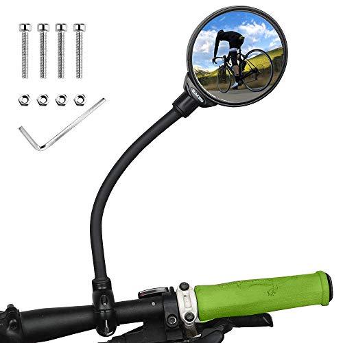 Zacro Fietsachterspiegel, 360 graden verstelbare achteruitkijkspiegel, universele fietsdraaispiegel…