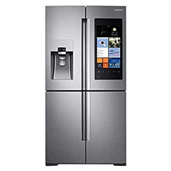 """Samsung RF22K9581SR 36"""" Counter Depth French Door Refrigerator with 22.1 cu. ft. Total Capacity, in Stainless Steel"""