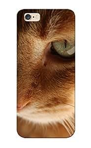 Runandjump Anti-scratch And Shatterproof Cat Closeup Phone Case For Iphone 6 Plus/ High Quality Tpu Case