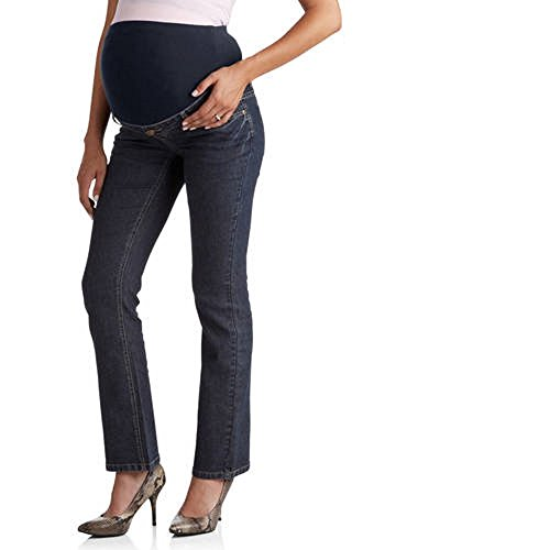 Full Panel Bootcut Jean (Planet Motherhood Maternity Plus-Size Full-Panel 5-Pocket Bootcut Blue Jeans (Plus 2X, Rinse Wash))