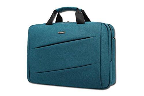"""xie bolso para Macbook Pro 14""""MacBook Pro de 15pulgadas con pantalla Retina Color sólido material de nylon hombres de maletín de nailon resistente al agua bolsas de hombro azul azul oscuro 14inch azul oscuro"""