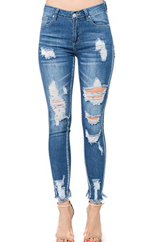 TwiinSisters Women's Super Comfy Basic Low Rise Skinny Jeans with Comfort Stretch