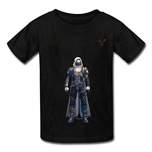 Price comparison product image QMY Kid's Funny Destiny Ironbanner Hunter T-shirts Size XS Black