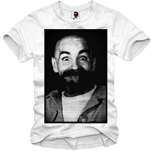 E1SYNDICATE MENS T-SHIRT CHARLES MANSON HELTER SKELTER EINSTEIN LSA S/M/L/XL (Charles Cotton T-shirt)