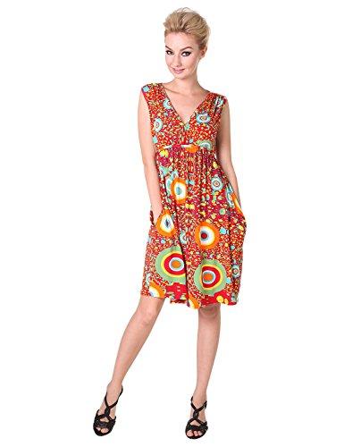 Knit Retro Print Empire Dress - 9