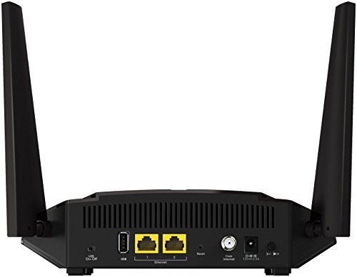 NETGEAR CM400 8x4 Cable Modem DOCSIS 3.0 Max Download Speeds of 343Mbps. Certified for XFINITY by Comcast, Time Warner Cable, Cox, Charter & more (CM400-1AZNAS) 4 <p>Two-in-One DOCSIS 3.0 Cable Modem + WiFi Router delivers AC1600 WiFi and up to 680Mbps modem speed Certified to work with Cable Internet Providers like XFINITY from Comcast, Time Warner Cable, Cox, Cablevision & More (Not Compatible with Cable Bundled Voice Services) ELIMINATE MONTHLY CABLE MODEM RENTAL FEES - Approximately $120/year savings Ideal for extending WiFi to devices like the iPhone 6S, Samsung Galaxy S7 Edge, iPad Air 2, and MacBook Pro Extreme dual band WiFi speed - up to 1.9Gbps 700 mW high-power amplifiers & high-gain 5dBi antennas for maximum WiFi coverage</p>