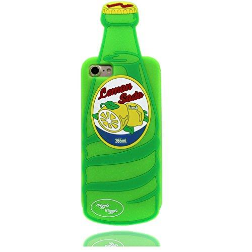 iPhone 6S Copertura,iPhone 6 Custodia,Moda Silicone morbido 3D Bere bottiglia Modellazione Custodia per iPhone 6 (ciano),case cover for iPhone 6 /6S 4.7,(Bottiglia di soda fresca al limone)