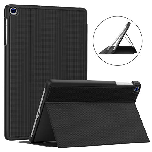 Soke Galaxy Tab A 10.1 Case 2019, Premium Shock Proof Stand Folio Case, Multi- Viewing Angles, Soft TPU Back Cover for Samsung Galaxy Tab A 10.1 inch Tablet [SM-T510/T515],Black (Best Small Tablets Of 2019)