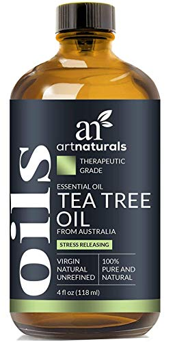 ArtNaturals 100% Pure Tea Tree Essential Oil - (4 Fl Oz / 120ml) - Natural Premium Melaleuca Therapeutic Grade - Great with Soap and Shampoo, Face and Body Wash - Antifungal Treatment for Acne, Lice (Home Remedies To Make Your Nose Smaller)