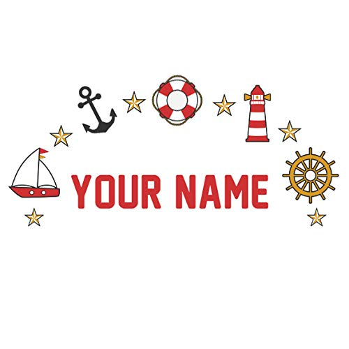 Personalized Kids Name Wall Decal Nautical