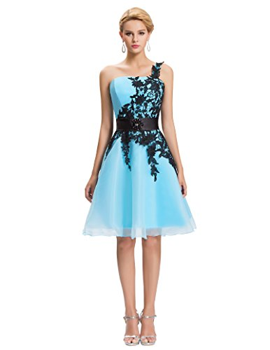 Buy light blue and white bridesmaid dresses - 2