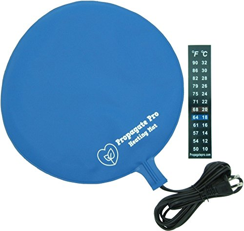 "Brewing & Fermentation Heat Pad for Homebrew Beer & Wine Fermenting 120VAC 25 Watt Heating Mat: Safe for Plastic/Glass Carboy & Bucket Fermentors Includes Heater Temperature Strip (12""- 25 Watts)"