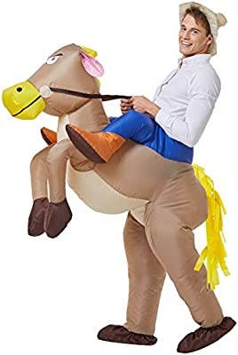 INFLATABLE COWBOY HAT HORSE//SUMO WRESTLER FANCY DRESS COSTUME DRESS PARTY OUTFIT