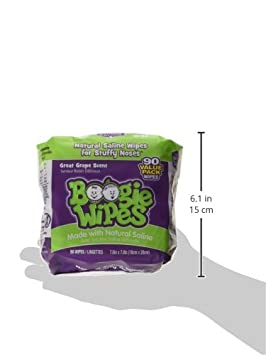 90-Count Boogie Wipes Natural Saline Nose Wipes for Kids and Babies Grape