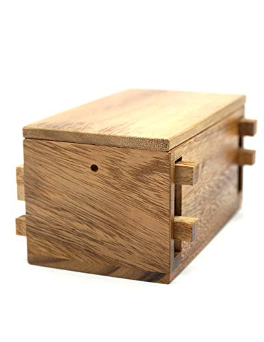 The Secret Gift Compartment Boxes for Money to Keep Your Cash in Puzzle Safe Box Holder with a Magic Wooden Keys Lock Puzzles Cases in Wooden Box Designs to Challenge Mind Puzzles Teaser -
