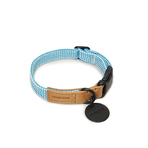 - HOWLPOT. We are Tight Dog Collar (Ribbon Type) Made with Genuine Buttero Leather & Climbing Rope (Large, Cloud Bay)