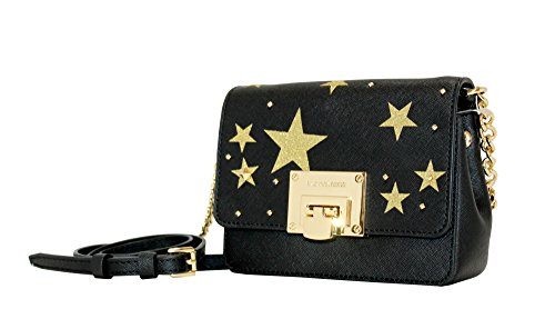 MICHAEL Michael Kors Women's Illustration Tina Small Clutch Leather Studded Wallet (Black) by MICHAEL Michael Kors