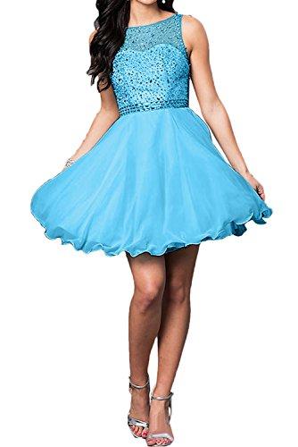 Ballkleider Blau Damen Partykleid Zaertlich Brautjungfernkleid Abendkleider Ivydressing Kurz Steine 01wgqqx
