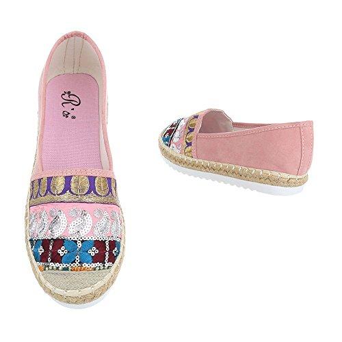 Ital-Design - Sandalias de vestir de Material Sintético para mujer Rosa Multi 6508-BL