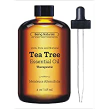 Therapeutic Tea Tree Essential Oil - Huge 4 OZ - 100% Pure & Natural – Premium Tea Tree Oil with Glass Dropper