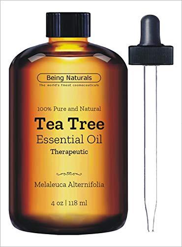 Therapeutic Tea Tree Essential Oil - Huge 4 OZ - 100% Pure & Natural - Premium Tea Tree Oil with Glass Dropper